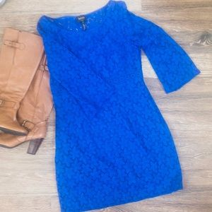 Laundry By Shelli Segal Bali Blue Lace Bell Sleeve